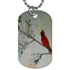 Sweet Red Cardinal Dog Tag (one Sided)