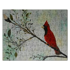 Sweet Red Cardinal Jigsaw Puzzle (Rectangle)