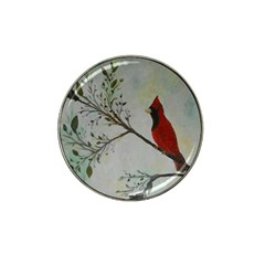 Sweet Red Cardinal Golf Ball Marker 4 Pack (for Hat Clip)
