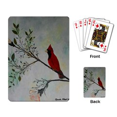 Sweet Red Cardinal Playing Cards Single Design