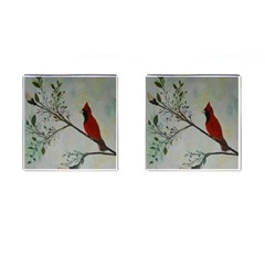 Sweet Red Cardinal Cufflinks (Square)