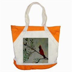 Sweet Red Cardinal Accent Tote Bag
