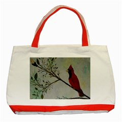 Sweet Red Cardinal Classic Tote Bag (Red)