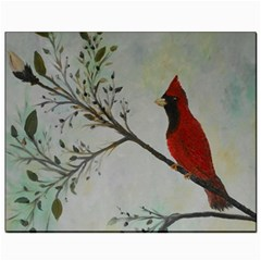 Sweet Red Cardinal Canvas 8  X 10  (unframed)