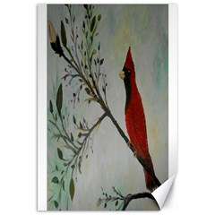 Sweet Red Cardinal Canvas 20  X 30  (unframed)