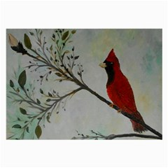 Sweet Red Cardinal Glasses Cloth (large, Two Sided)