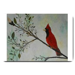 Sweet Red Cardinal Large Door Mat