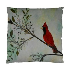 Sweet Red Cardinal Cushion Case (Two Sided)