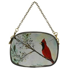 Sweet Red Cardinal Chain Purse (two Sided)