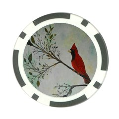 Sweet Red Cardinal Poker Chip (10 Pack)
