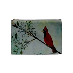 Sweet Red Cardinal Cosmetic Bag (medium)