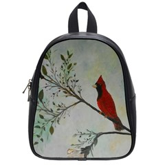 Sweet Red Cardinal School Bag (Small)