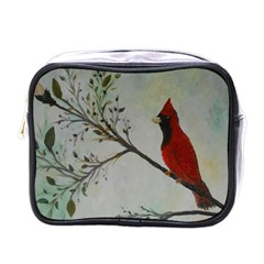 Sweet Red Cardinal Mini Travel Toiletry Bag (One Side)