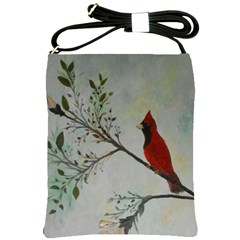 Sweet Red Cardinal Shoulder Sling Bag