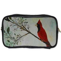 Sweet Red Cardinal Travel Toiletry Bag (one Side)