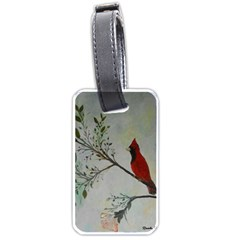 Sweet Red Cardinal Luggage Tag (one Side)