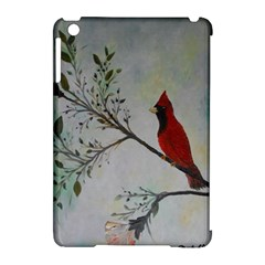 Sweet Red Cardinal Apple iPad Mini Hardshell Case (Compatible with Smart Cover)