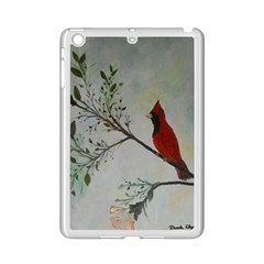 Sweet Red Cardinal Apple iPad Mini 2 Case (White)