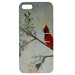 Sweet Red Cardinal Apple iPhone 5 Hardshell Case with Stand