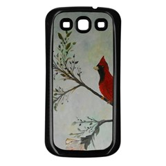 Sweet Red Cardinal Samsung Galaxy S3 Back Case (black)