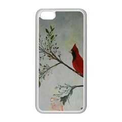 Sweet Red Cardinal Apple iPhone 5C Seamless Case (White)