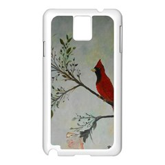 Sweet Red Cardinal Samsung Galaxy Note 3 N9005 Case (White)
