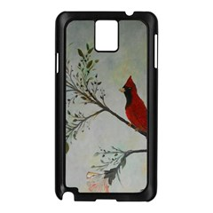 Sweet Red Cardinal Samsung Galaxy Note 3 N9005 Case (Black)