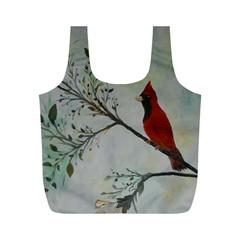 Sweet Red Cardinal Reusable Bag (m)