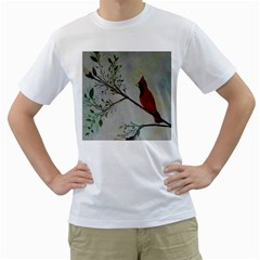 Sweet Red Cardinal Men s T-Shirt (White)