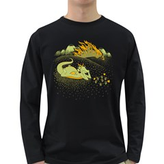 Stop And Smell The Napalm Men s Long Sleeve T Shirt (dark Colored)