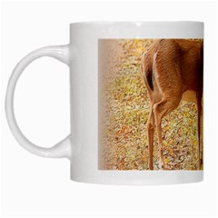 Deer in Nature White Coffee Mug