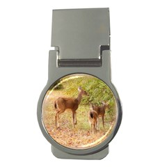 Deer in Nature Money Clip (Round)