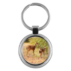 Deer in Nature Key Chain (Round)
