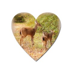 Deer In Nature Magnet (heart)