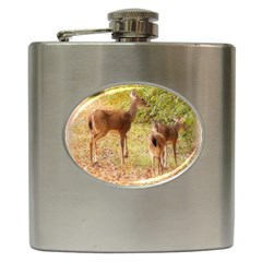 Deer in Nature Hip Flask