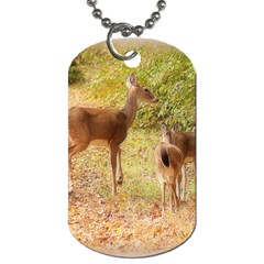Deer in Nature Dog Tag (Two-sided)