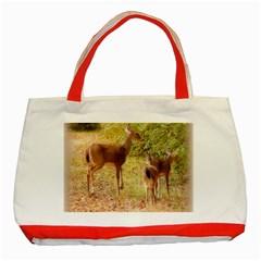 Deer in Nature Classic Tote Bag (Red)