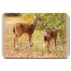 Deer In Nature Large Door Mat