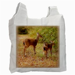 Deer in Nature White Reusable Bag (Two Sides)
