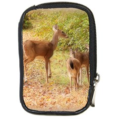 Deer In Nature Compact Camera Leather Case