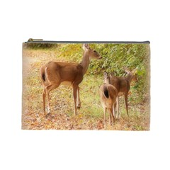 Deer in Nature Cosmetic Bag (Large)