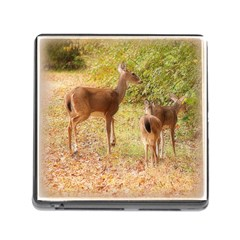 Deer In Nature Memory Card Reader With Storage (square)