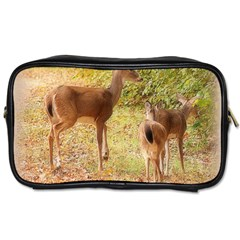 Deer In Nature Travel Toiletry Bag (two Sides)