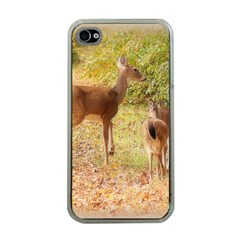 Deer In Nature Apple Iphone 4 Case (clear)