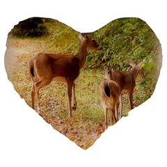 Deer in Nature 19  Premium Heart Shape Cushion