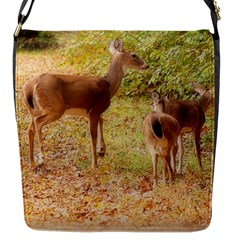Deer in Nature Flap Closure Messenger Bag (Small)