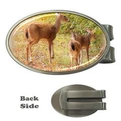 Deer in Nature Money Clip (Oval)