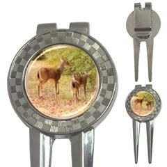 Deer In Nature Golf Pitchfork & Ball Marker