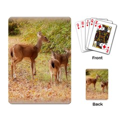 Deer in Nature Playing Cards Single Design