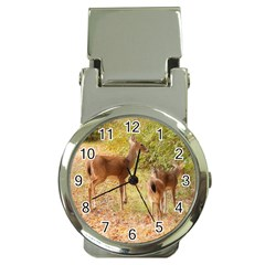 Deer in Nature Money Clip with Watch